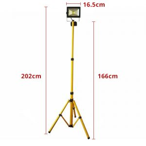 LED Work Light with Tripod Stand / Power Cord 20W Measurement