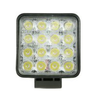 "4"" 48W Spot Light 16 LED Square Type 10-30V"