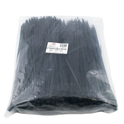 """12"""" Black Cable Ties"""