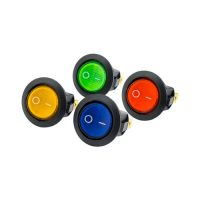 On-Off Round Rocker Switch (Neon Lamp)