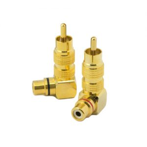 Medium Gold RCA Plug & Socket