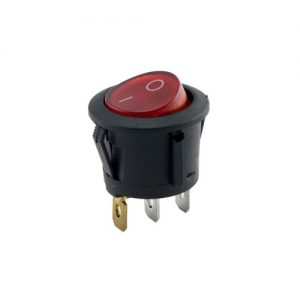 On-Off Round Rocker Switch (Red)
