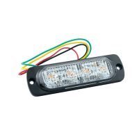 4 LED Strobe Light (12V-30V) 95x28mm