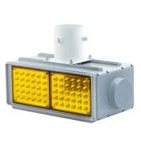 LED Strobe Light with Solar Panel & AC Input